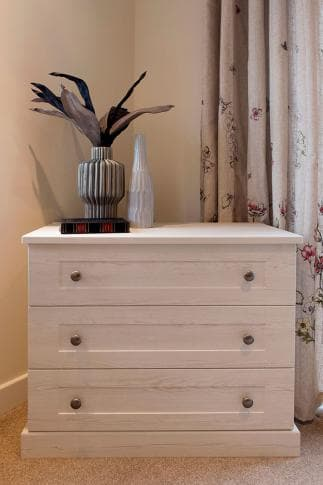hammonds seton chest of drawers in white ash