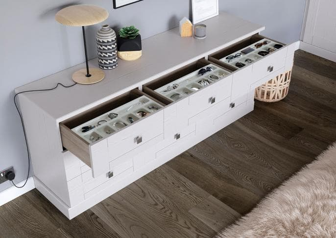 seton chest of drawers in white ash
