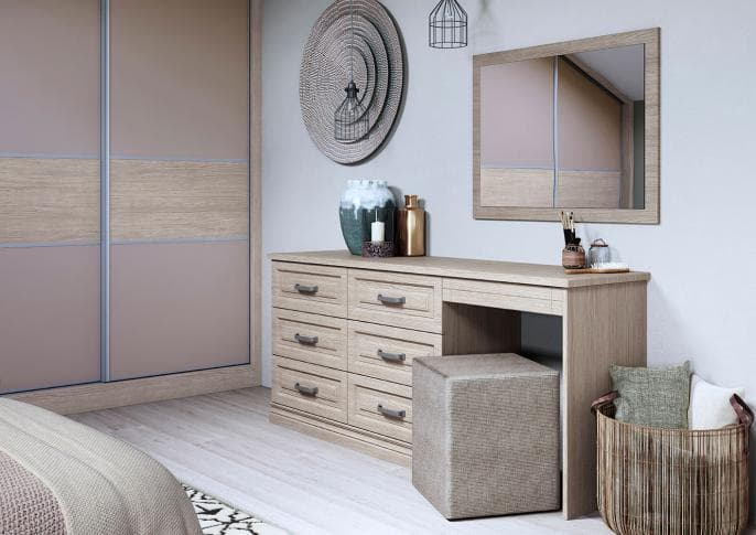 Willesley dressing table in Aragon oak