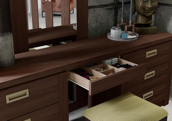 Willoughby dressing table in expresso oak