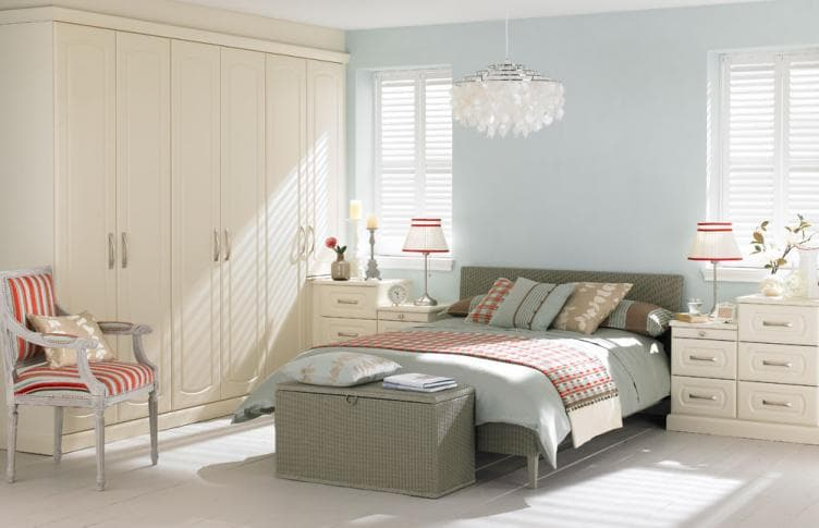 Rialto curved bedroom range hammonds for Fitted bedroom furniture 0 finance