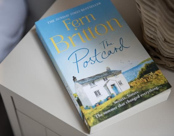an image of the post card book by fern britton