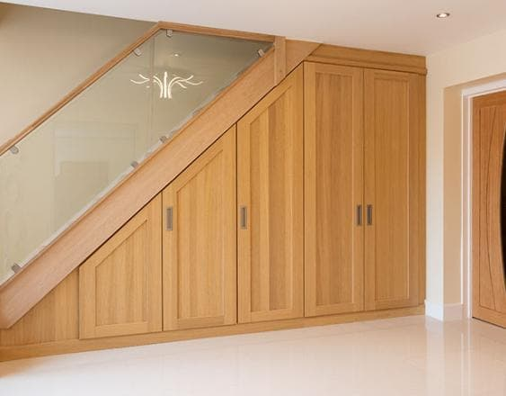 Under stair fitted furniture willoughby light oak hammonds furniture