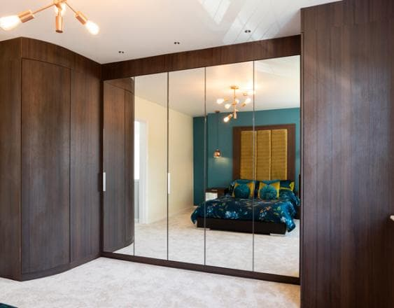 Fitted master bedroom wardrobes