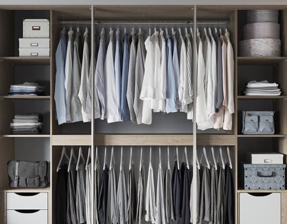 Rialto Square Fitted Wardrobes Light grey